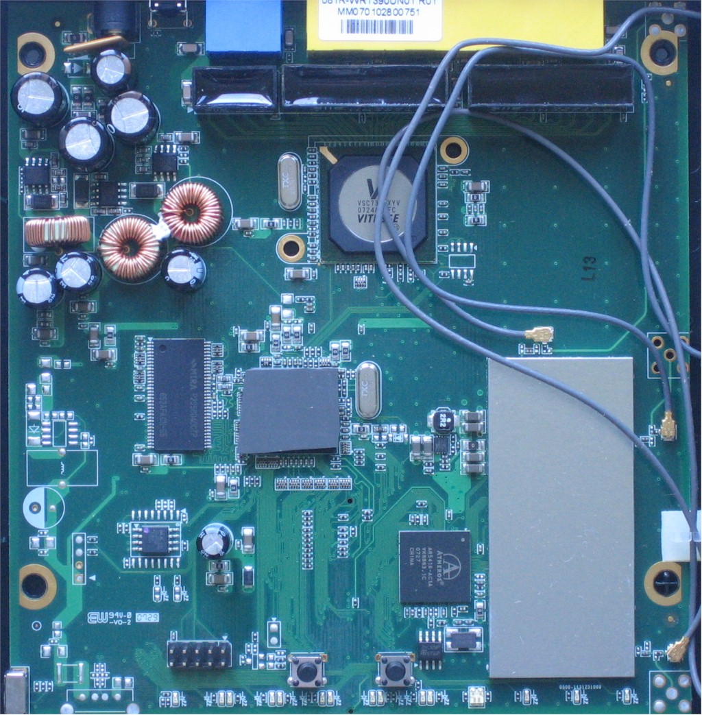Internal board view of the TEW-633GR - reviewed product