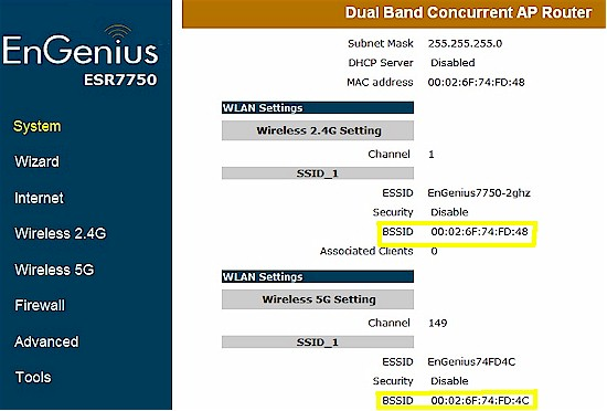EnGenius ESR7750 unclear MAC address indication