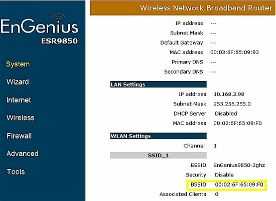 EnGenius ESR9850 unclear MAC address indication