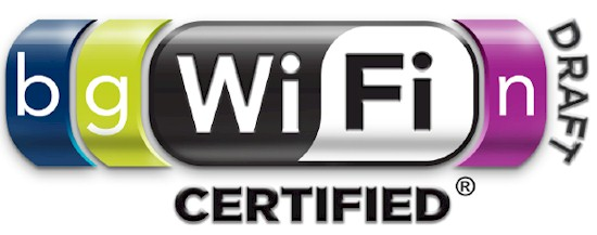 WiFi 802.11b/g draft n Certified Logo