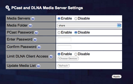 Figure 3: LinkTheater DLNA Setup
