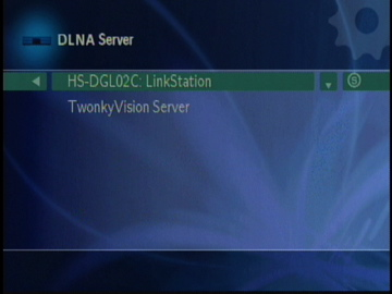 Figure 9: DLNA Server Selection