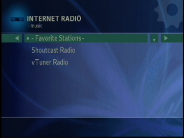 Figure 10: Radio Stations available from a Twonkyvision server