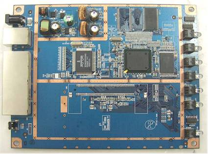 Figure 3: Netgear WNR834B board bottom view