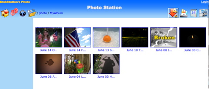 The photo station application