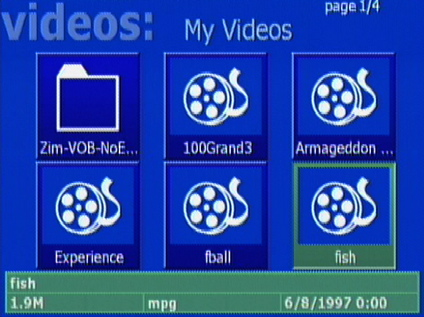 Figure 5: Video Selection Screen