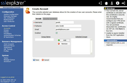 Figure 17: Create account screen