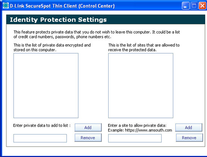 Identity Protection Settings
