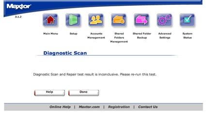 Diagnostics results