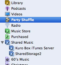 Shared Storage II iTunes server
