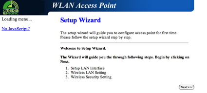 Access Point Wizard