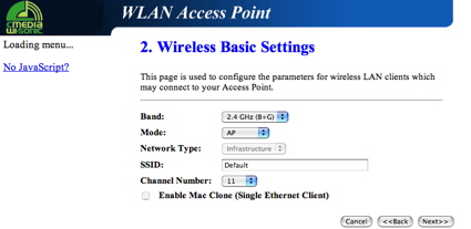 Access Point Setup