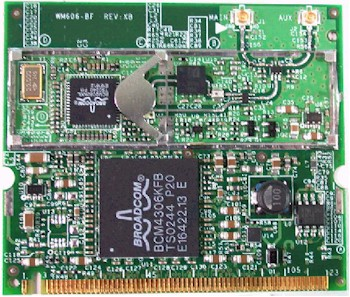 Linksys WM54G mini-PCI radio