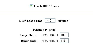 Linksys RV802 - DHCP Server controls