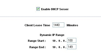 Linksys RV802 - DHCP range follows base address change
