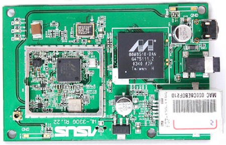 ASUS WL330g - Closer view of the board