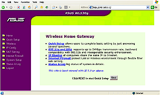 WL-530g Home page