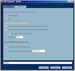 Bandwidth Management Enable