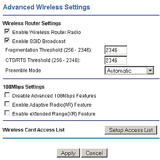 NETGEAR WPN824 - Advanced Wireless settings