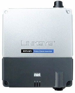 Linksys Product Preview - WAP54GPE Wireless-G Exterior