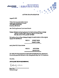 Letter of Authorization