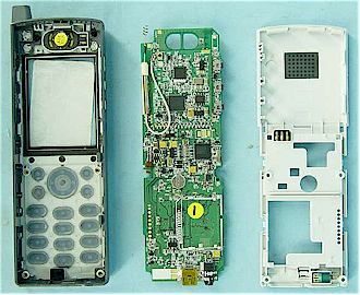 WIP330 Handset internal view
