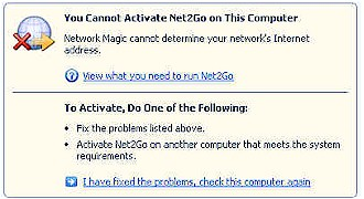 Network Magic - Unhelpful error message
