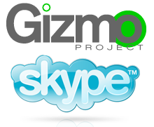Gizmo and Skype logos