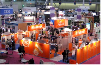 Fall VON 2005 show floor (click to enlarge)
