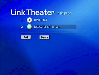 Server selection with the Buffalo Link Theater